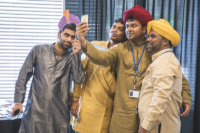 Group of Indian men taking a selfie