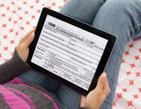 Tax season electronic 1040