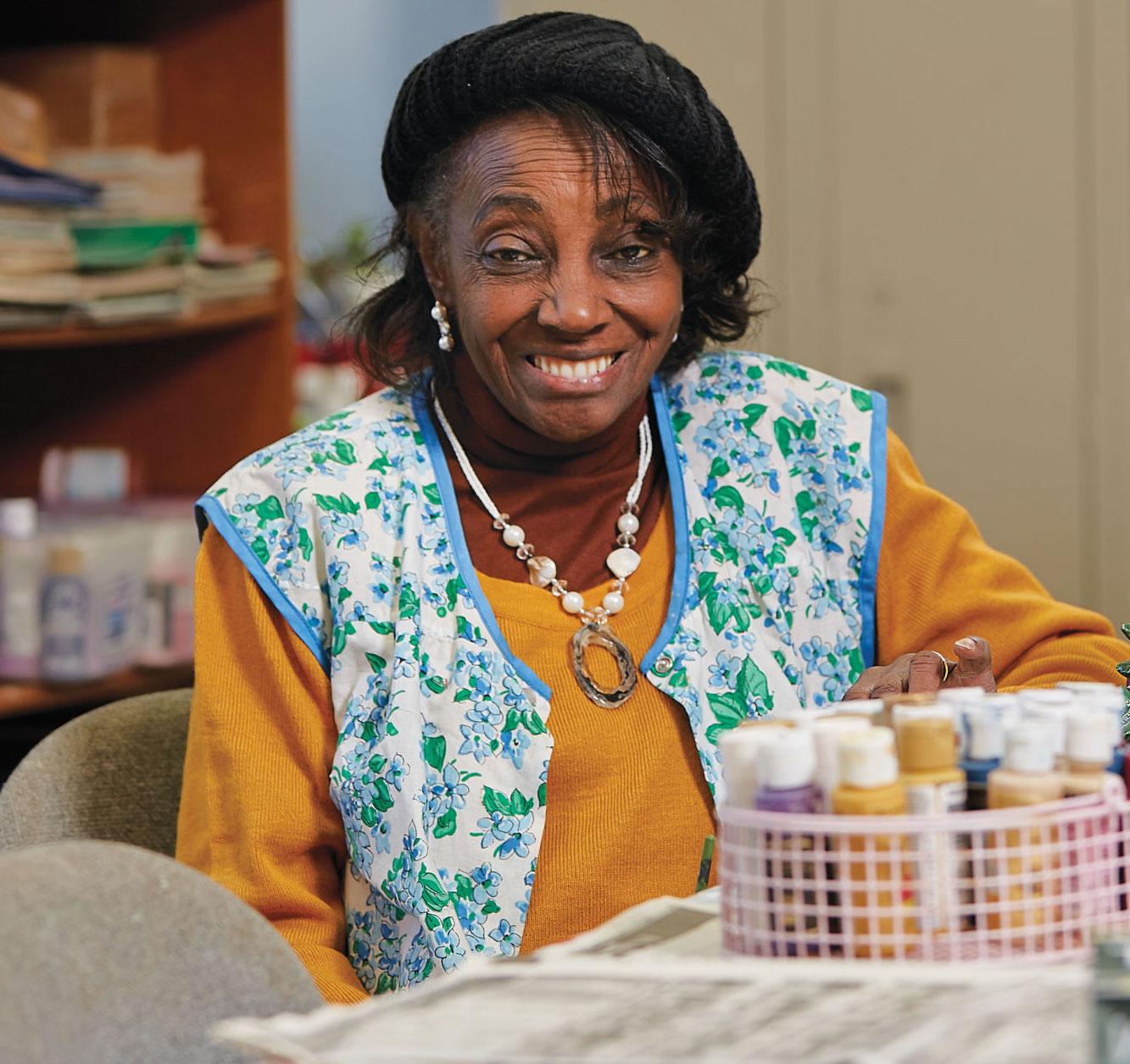 Mary Marion at The Salvation Army's Dora Bingel Senior Center.