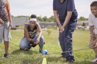 JoAnn Robinson leads team-building exercise for Partnership for Kids