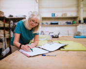 Women working past retirement age