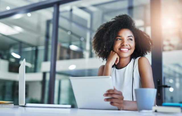 Woman feels good knowing she's a good online citizen