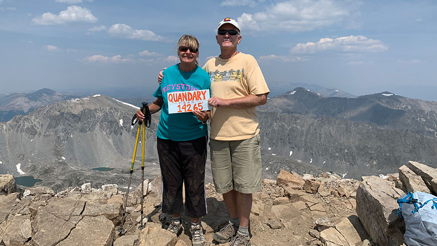 Climbing Mt. Quandary